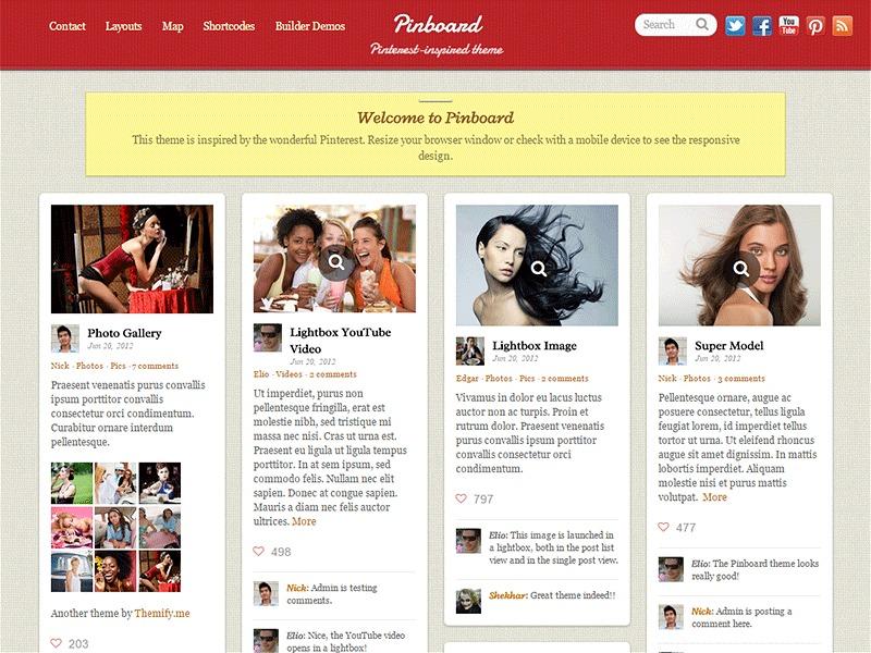 Themify Pinboard WordPress theme