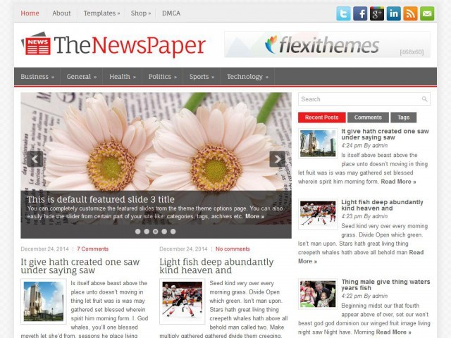 TheNewsPaper best WordPress magazine theme