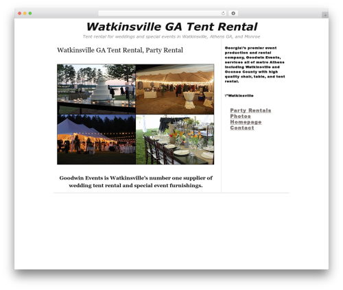 Thesis WordPress theme - watkinsvilletentrental.com