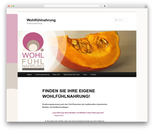Twenty Eleven best free WordPress theme - wohlfuehlnahrung.at