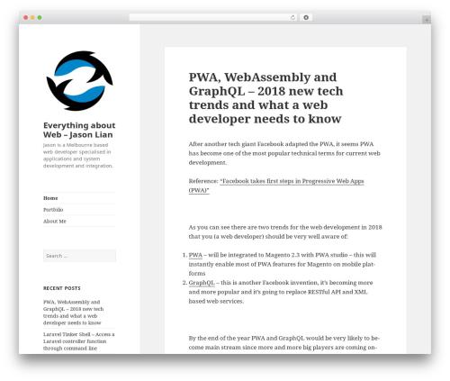 Twenty Fifteen WordPress theme - w3c-lab.com