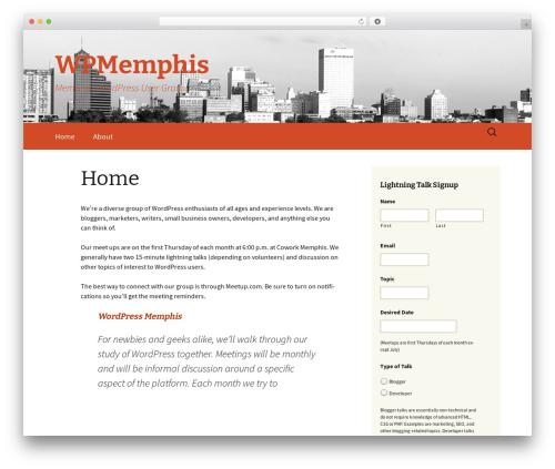 Twenty Thirteen best free WordPress theme - wpmemphis.com