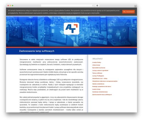 Twenty Thirteen best free WordPress theme - fabrykaoswietlenia.com