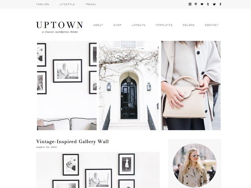 Uptown WP template