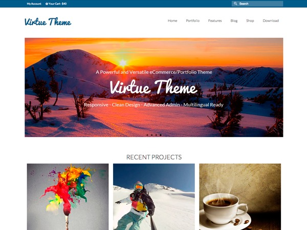 Virtue-Child template WordPress