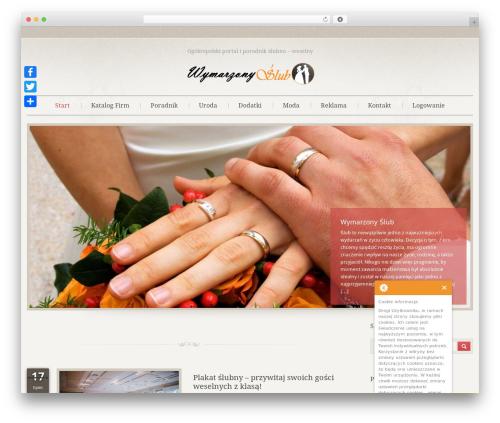 WordPress theme Klasik - wymarzony-slub.pl