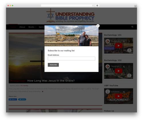 WordPress theme Latest - understandingbibleprophecy.org