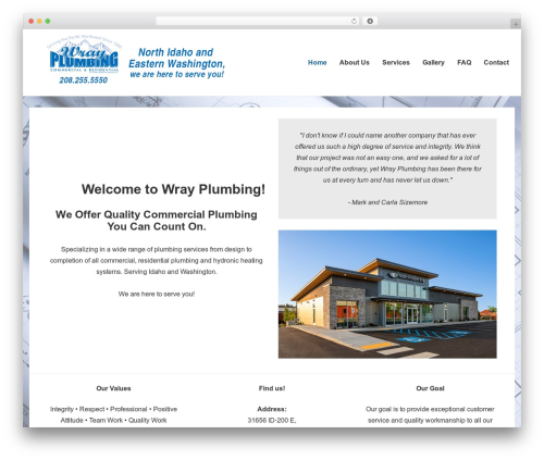 WordPress theme Responsive - wrayplumbinginc.com