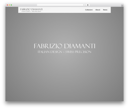 WordPress website template Black Label - fabriziodiamanti.com