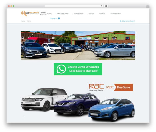AutoTrader Child WordPress page template - a1carsearch.co.uk