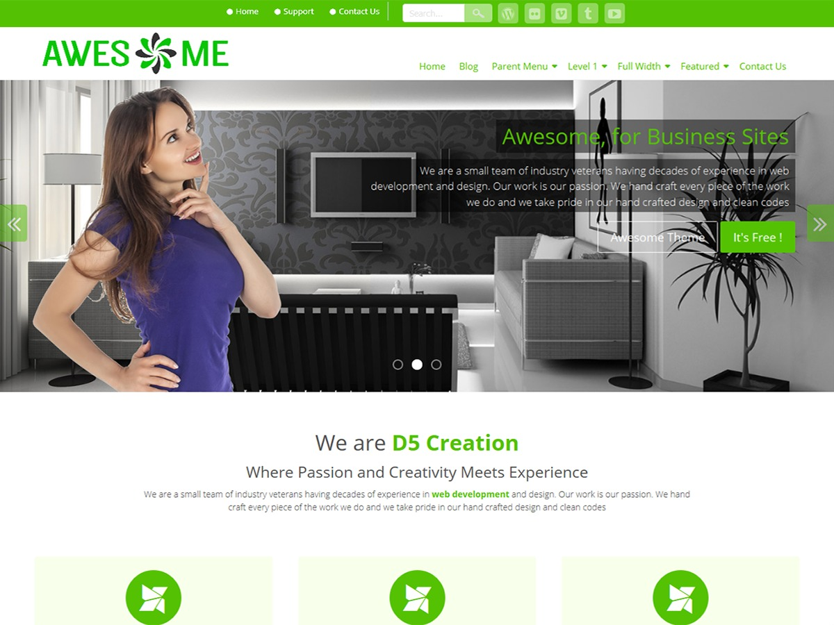 Awesome Child WordPress video theme