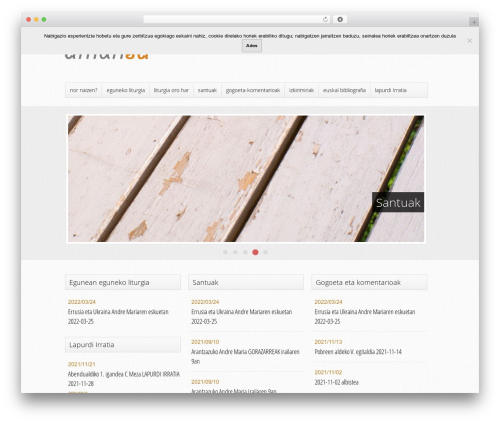Best WordPress template Trinity (Free Edition) - amunsa.eus