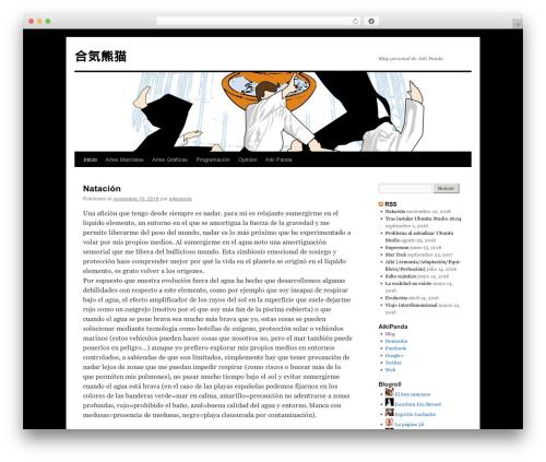 Best WordPress template Twenty Ten - aikipanda.ocanyaweb.es