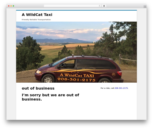 Clean Word free website theme - awildcattaxi.com