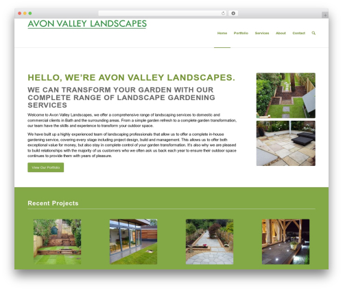 Enfold premium WordPress theme - avonvalleylandscaping.co.uk