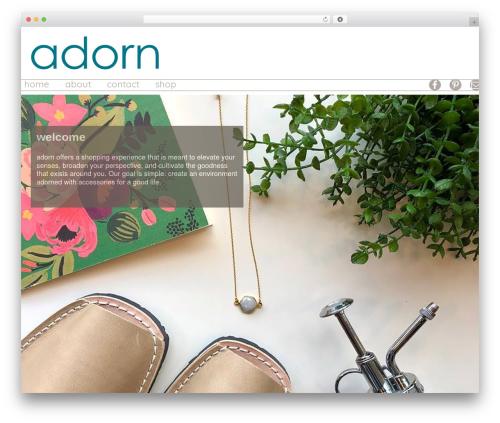Gantry Theme for WordPress WordPress store theme - adorngiftandhome.com