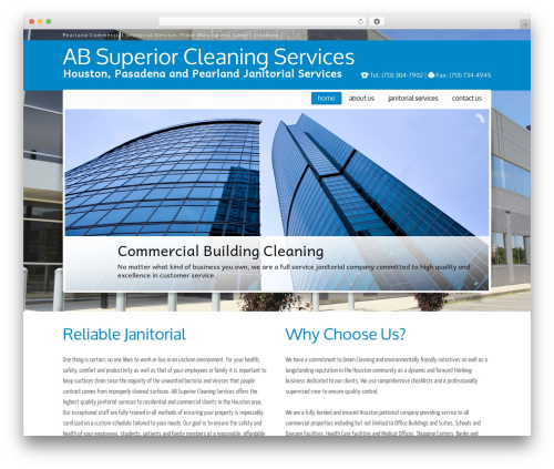 JanitorV6 template WordPress - absuperiorcleaningservices.com