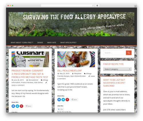 Tortuga WordPress website template - adultfoodallergies.com