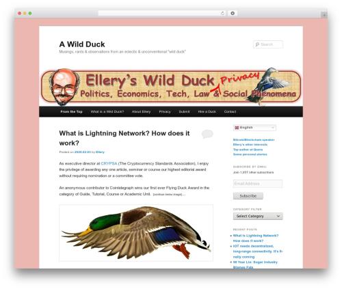 Free WordPress Twenty Eleven Theme Extensions plugin - awildduck.com