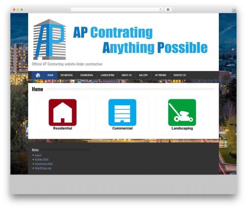BrickYard template WordPress free - apcontracting.net