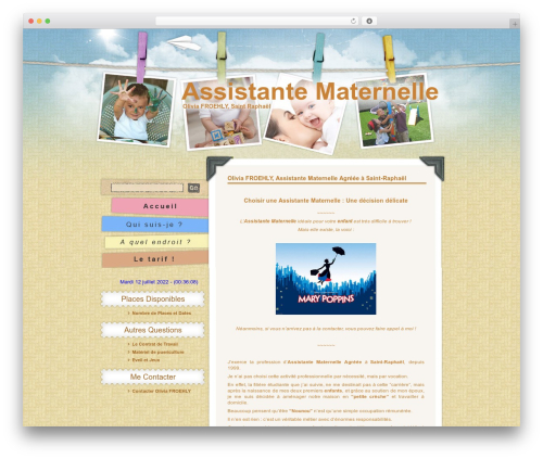 Children and Toys WordPress theme - assistante-maternelle-agreee.fr