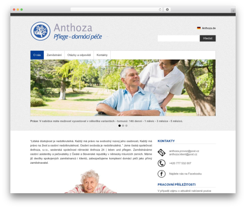 Simple Catch free WordPress theme - anthoza.eu