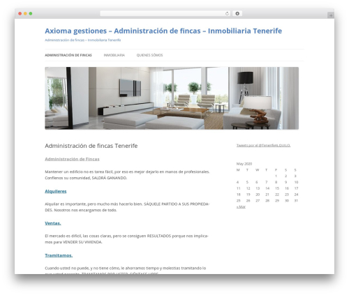 Twenty Twelve best free WordPress theme - axiomagestiones.com
