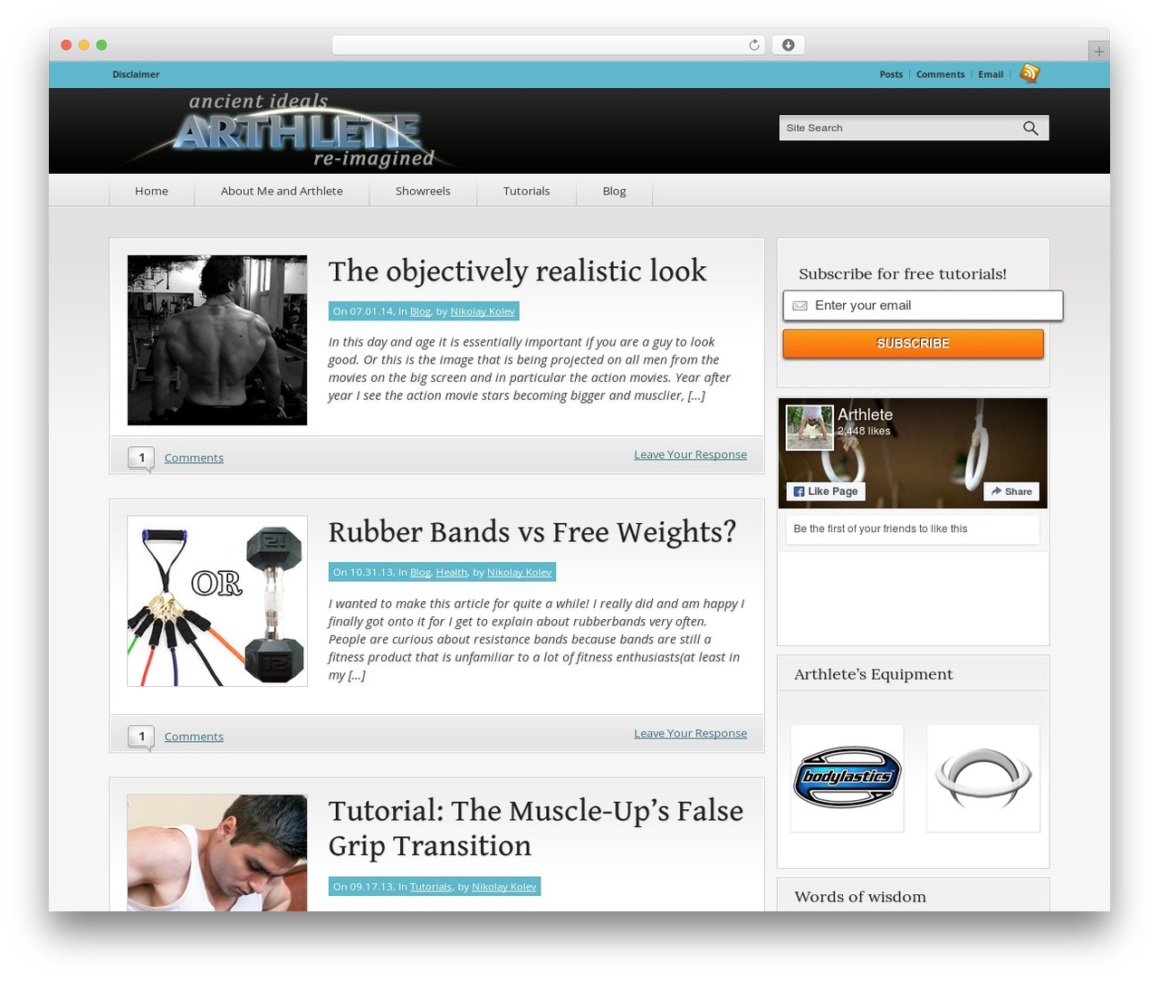 WordPress theme Convergence - arthlete.com