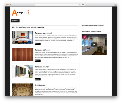 WordPress theme Magazinum - asarp.nu