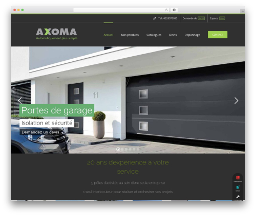 Avada template WordPress - axoma-44.com