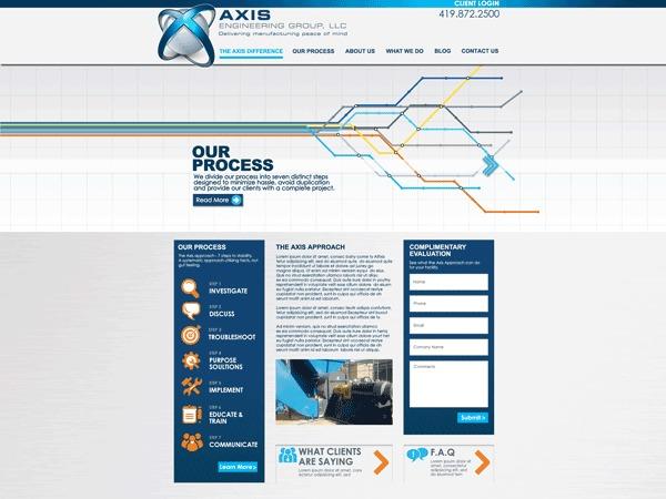 Axis Engineering theme WordPress