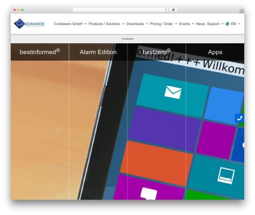 Best WordPress template neve - cordaware.com