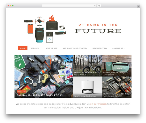 Entrance WordPress blog theme - athomeinthefuture.com