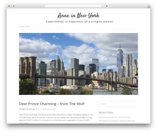 Lifestyle WordPress theme free download - anneinnyc.com