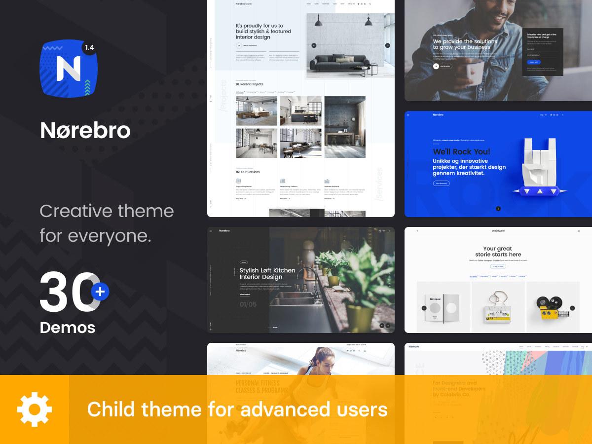 Norebro Child premium WordPress theme