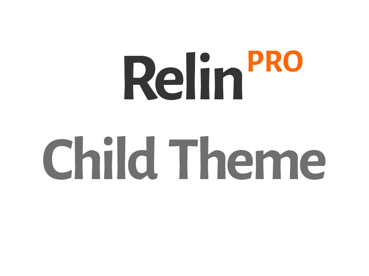 RelinPro Child WordPress theme