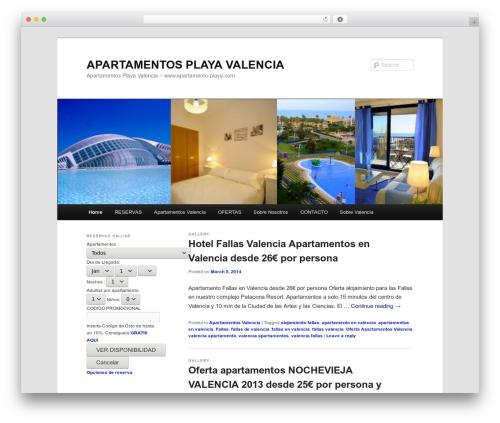 Twenty Eleven free WP theme - apartamento-playa.net