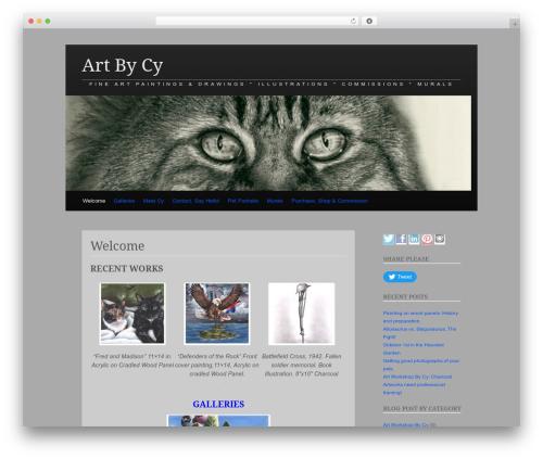 WordPress theme Claydell Media - artbycy.com