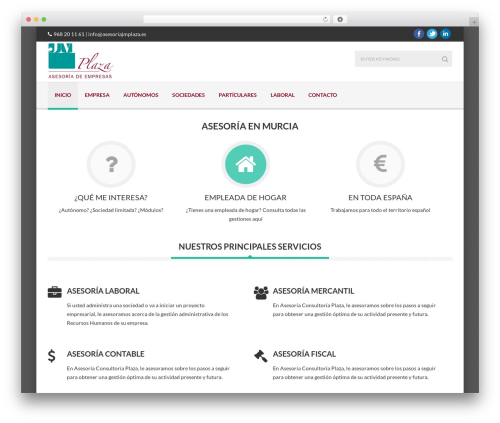 WordPress theme Delicate - asesoriajmplaza.es