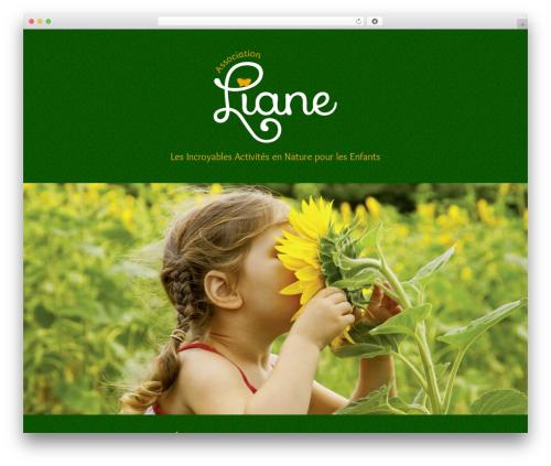 WordPress website template type Child - association-liane.ch
