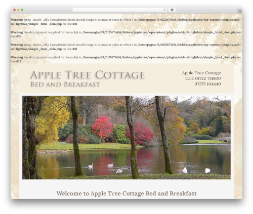 WP theme DMS - appletreecottagebnb.co.uk