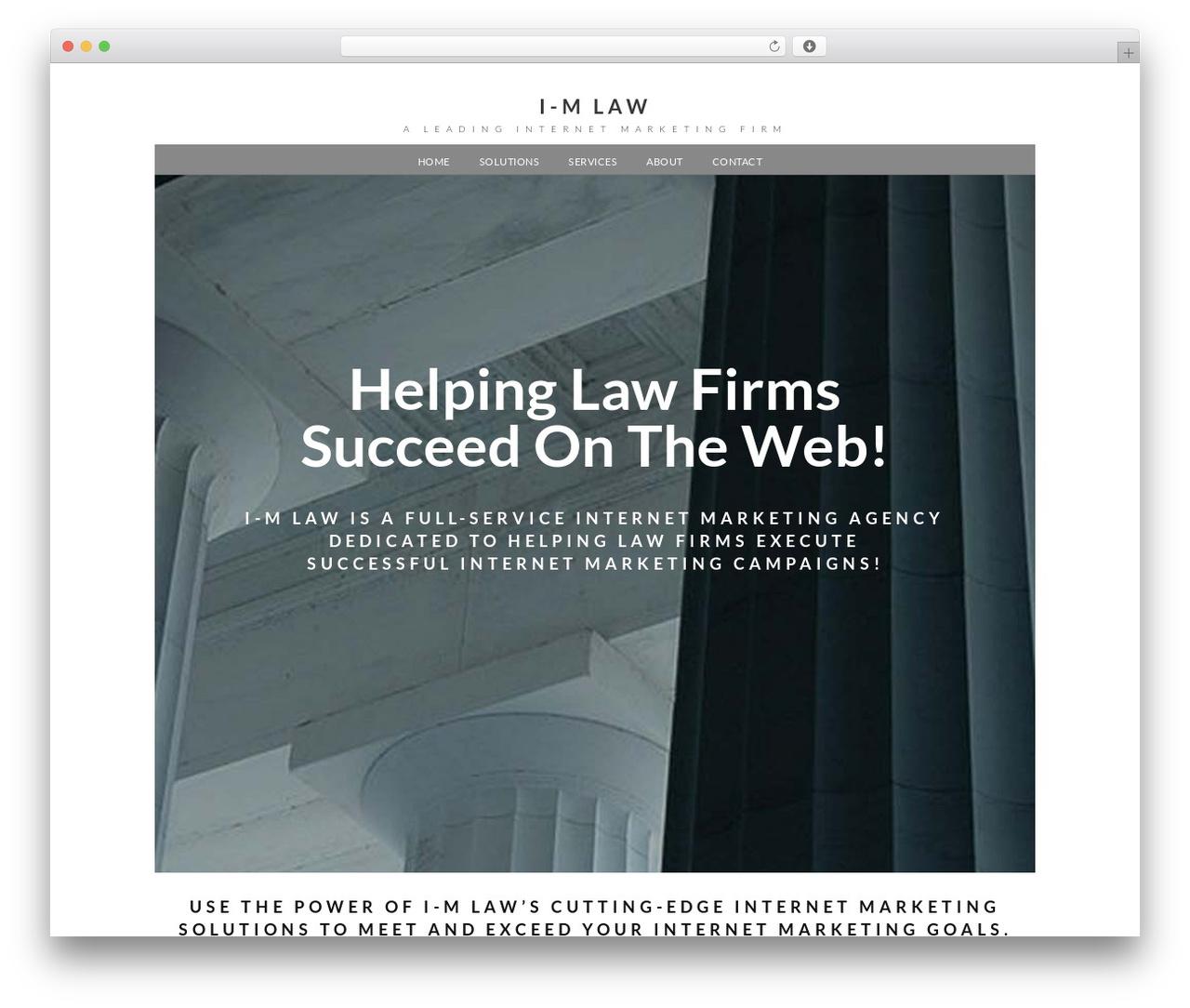 Xccelerator WordPress theme - i-mlaw.com