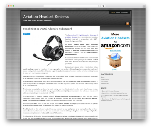 Affiliate Internet Marketing theme WordPress theme - aviationheadsetreviews.com