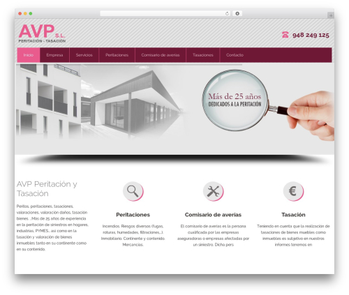 Attorney WordPress theme design - avptasacion.com