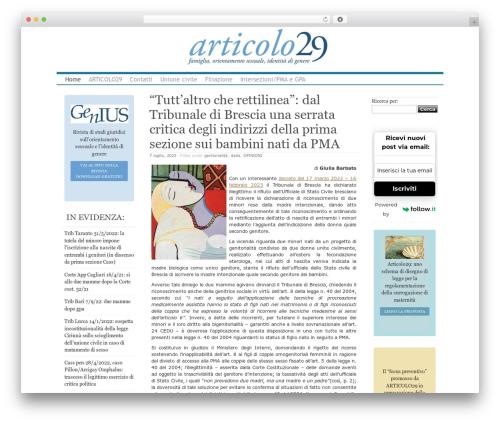 Clear Line best WordPress template - articolo29.it
