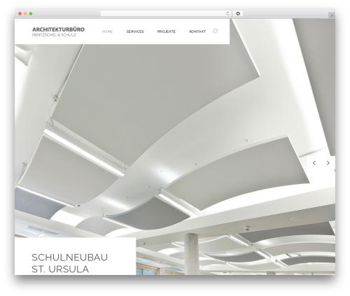 Dessau WordPress website template - architekt-hentzschel-schulz.de