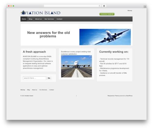 Responsive free WP theme - aviationisland.es