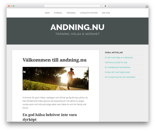 Swell Lite theme WordPress - andning.nu