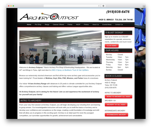 Twenty Eleven template WordPress free - archeryoutposttulsa.com