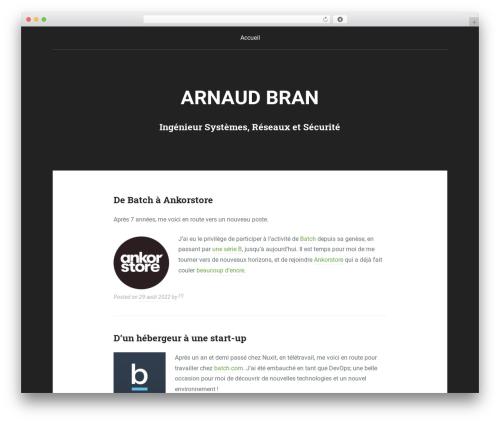 WordPress template Padhang - arnaudb.net